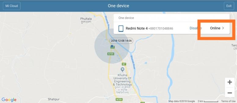 localizar celular xiaomi google maps